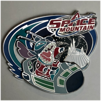 Space Mountain Stitch pin